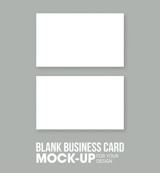 空白の名刺と名前カードのモックアップテンプレート。