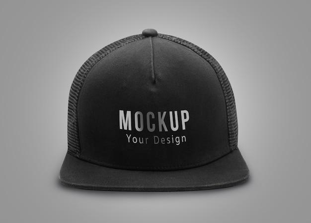 Черная шапка макет
