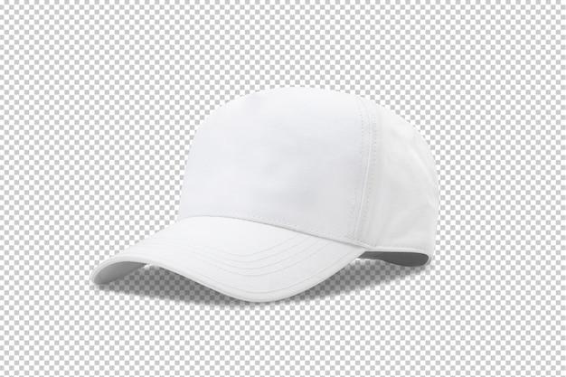 Шаблон макета белой бейсболки