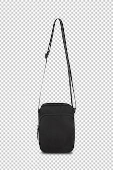Черная карманная сумка макет шаблона