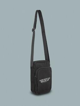 Черная карманная сумка макет