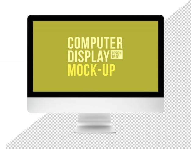 Современный рабочий стол компьютера с шаблоном макета экрана