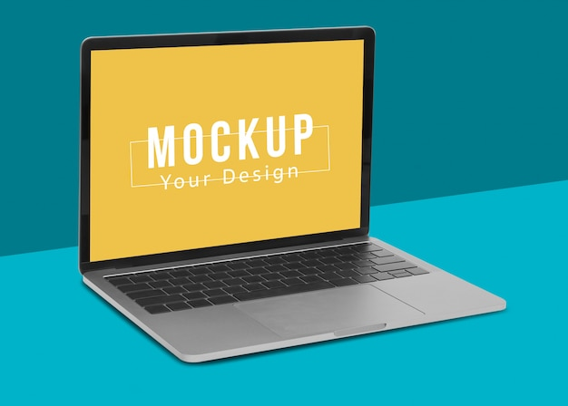 Ноутбук цифровое устройство макет дизайна.