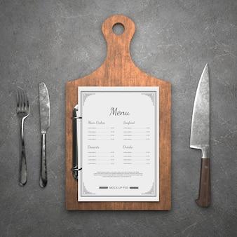 レストランメニューモックアップ