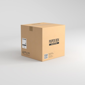 Макет бумажной коробки