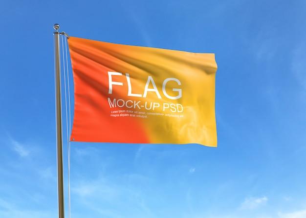 旗のモックアップを振る