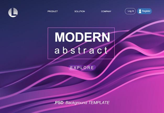 Сайт целевой страницы веб-шаблон в современном дизайне.