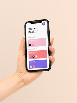 スマートフォンのモックアップ