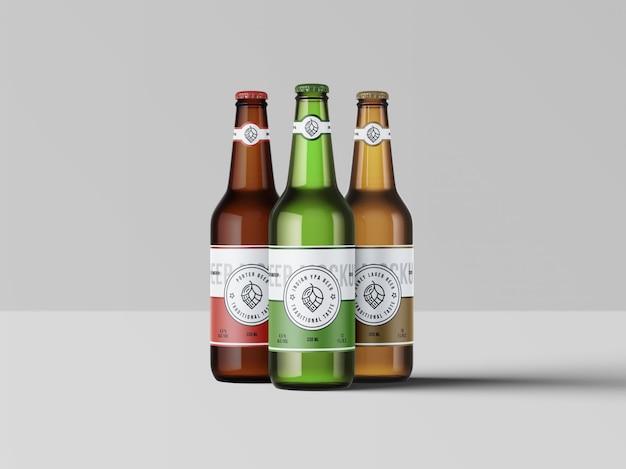 Макет из трех пивных бутылок
