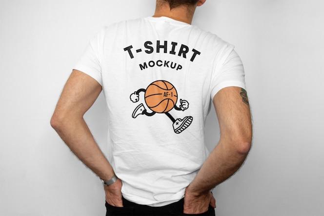 Макет спинки футболки