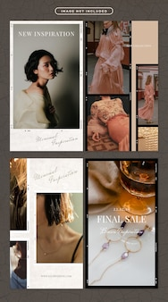 ファッションと美容をテーマにしたソーシャルメディアストーリー