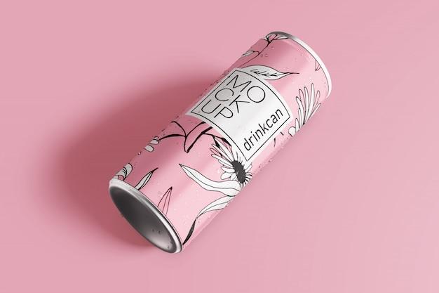 Длинный алюминиевый напиток может макет
