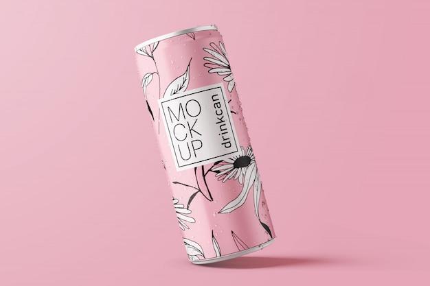 ロングアルミドリンク缶のモックアップ