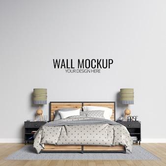 Интерьер спальни стены макет фона