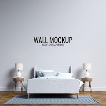 Интерьер спальня макет стены