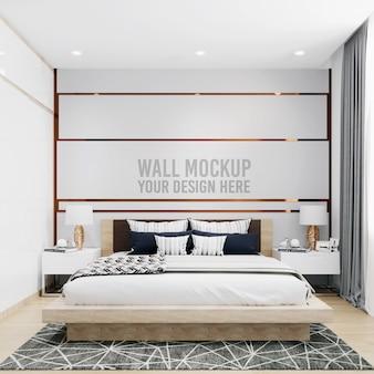 Интерьер спальни стены фон макет