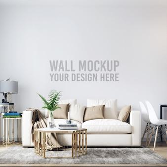 Интерьер гостиной стены фон макет