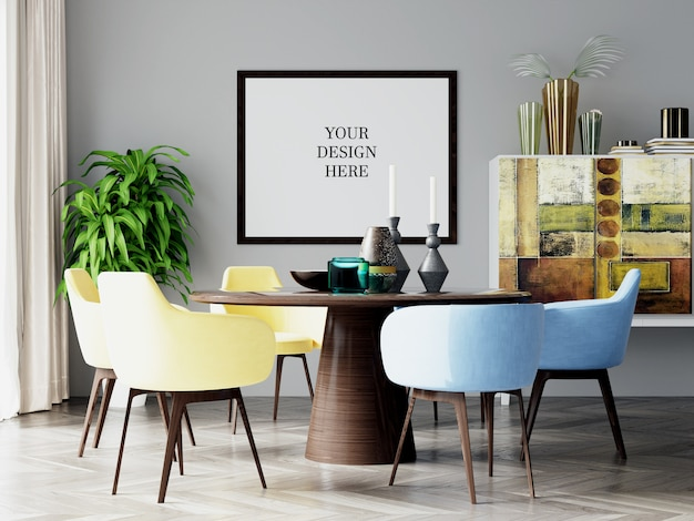Столовая плакат и обои макет