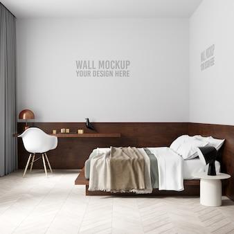 Макет стены интерьера спальни