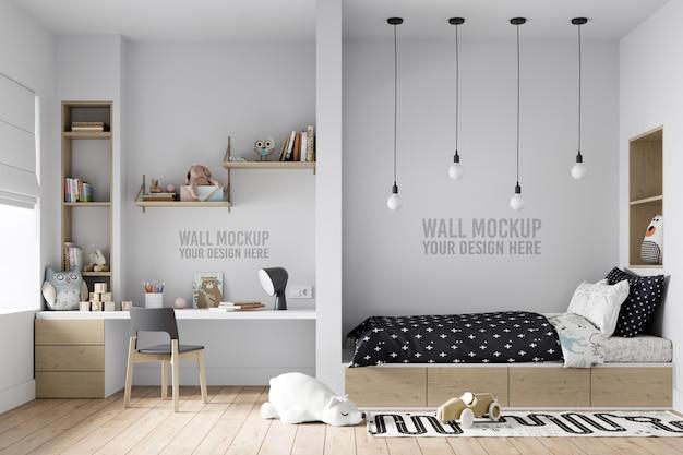 Интерьер детской спальни стены макет
