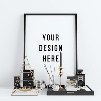 Сцена в рамке для плаката с декорациями