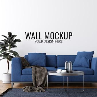 Современный интерьер гостиной стены макет фона