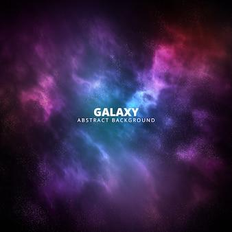 正方形の紫とピンクの銀河の抽象的な背景