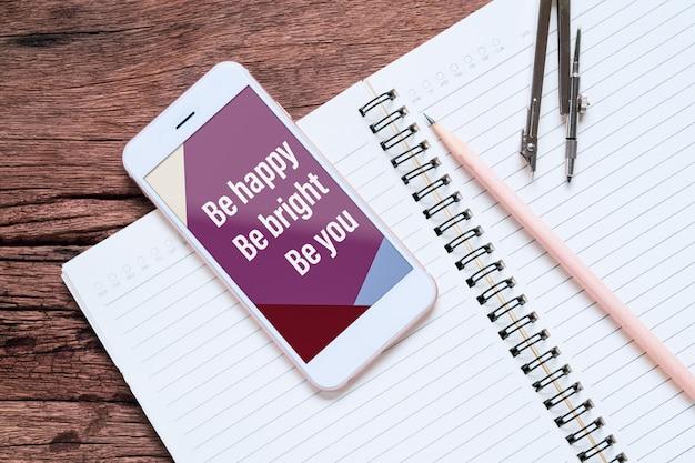 Смартфон макет для вашего бизнеса цитаты