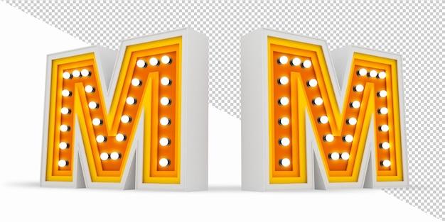 カラフルなアルファベット電球看板