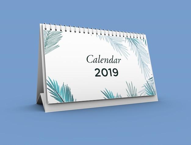 カレンダーのモックアップ