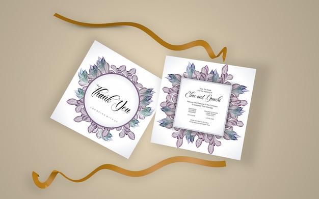 結婚式の美しいカードモックアップ