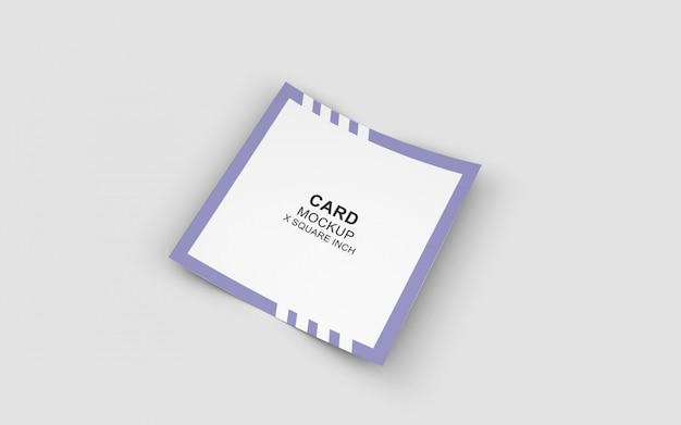 正方形カード形式のクリーンモックアップ
