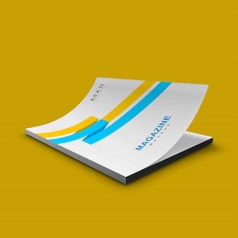 Хороший и чистый простой макет обложки журнала