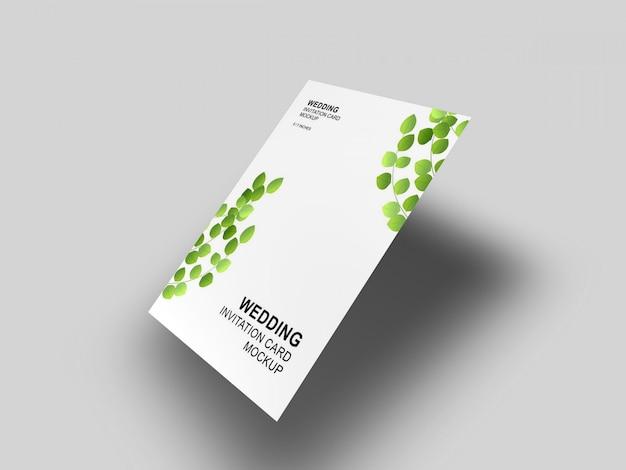 封筒のモックアップテンプレートとエレガントでシンプルできれいなウェディングカード