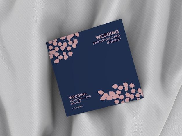 Элегантный квадратный свадебный пригласительный билет макет