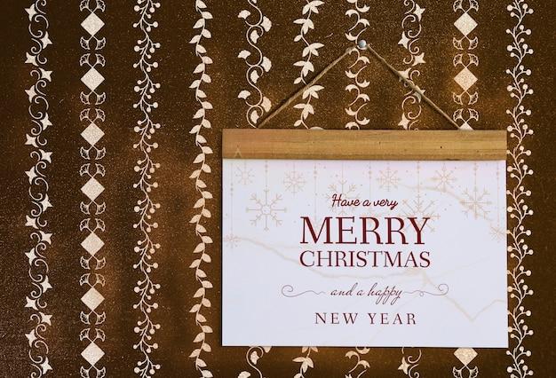 クリスマス休暇の挨拶デザインモックアップ