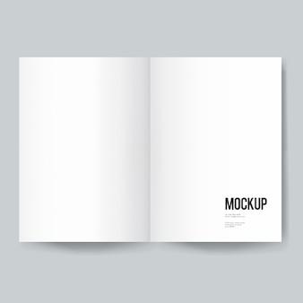 空の本や雑誌のテンプレートモックアップ