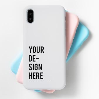 Премиум шаблон макета экрана мобильного телефона