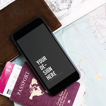 プレミアム携帯電話のスクリーンモックアップテンプレート