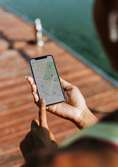 電話で地図アプリ