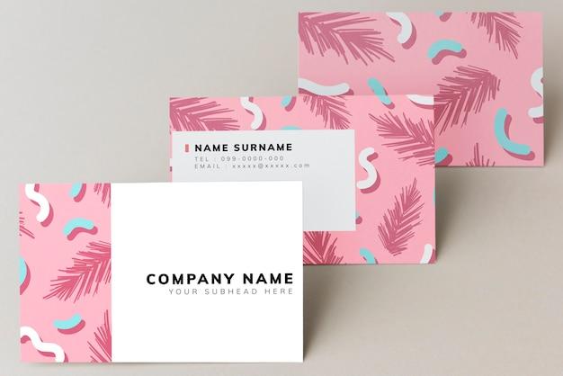Красочный дизайн макета визитной карточки