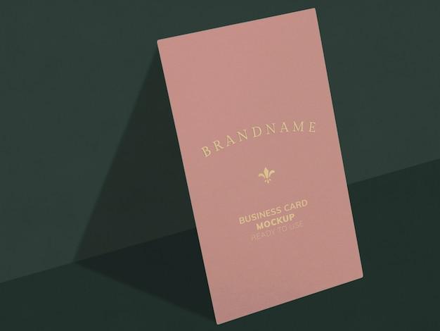 Розовая визитка