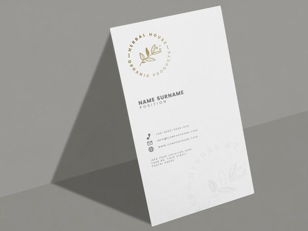 Белая визитная карточка