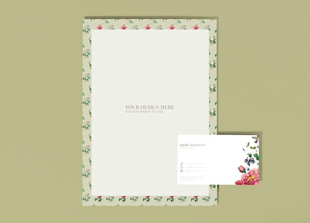 Цветочный макет письма