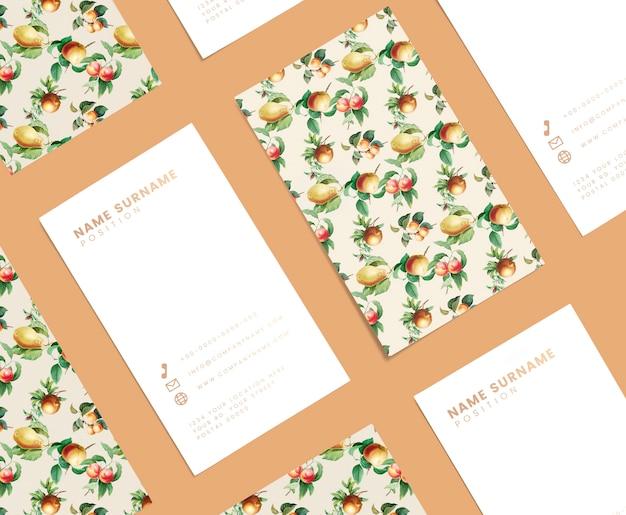 Цветочный дизайн визитной карточки