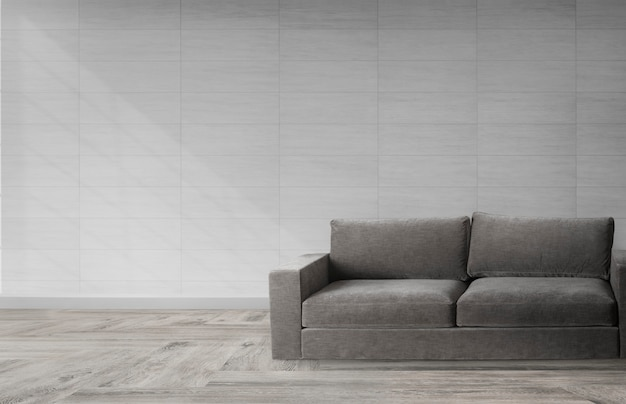 モダンな部屋のソファ