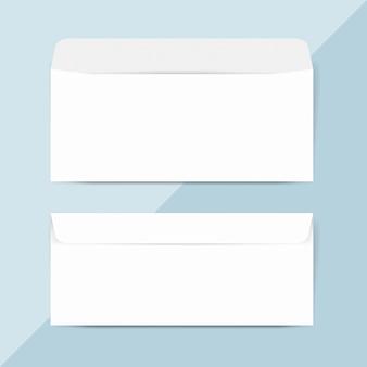 普通紙封筒デザインモックアップベクトル