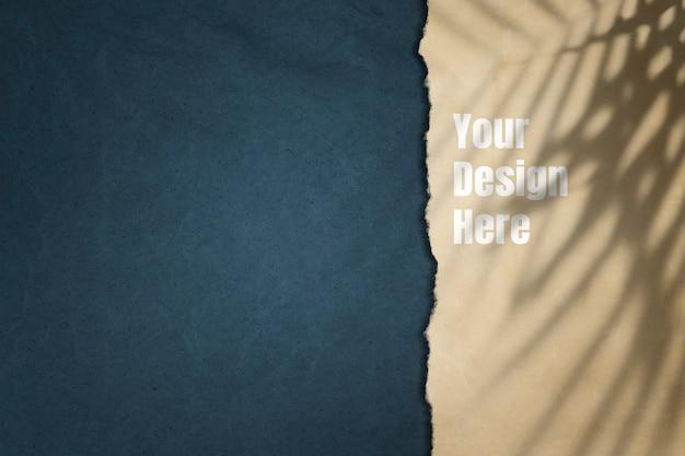 紙のモックアップデザインの背景