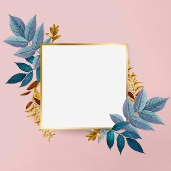 Ботаническая золотая рамка
