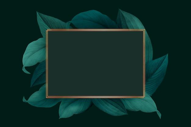 Рамка украшенная листвой